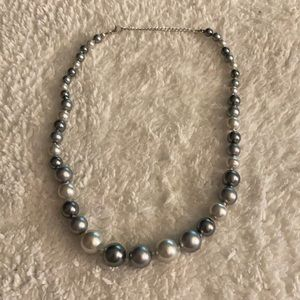 Jewelry - Gray Black White Imitation Pearl Adjust Necklace